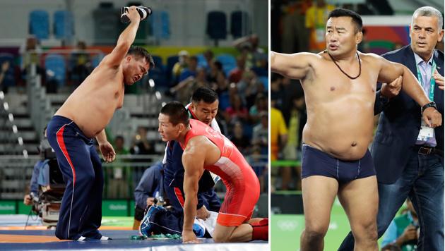 Drei Jahre Sperre für olympische Nackedei-Trainer! (Bild: AP)