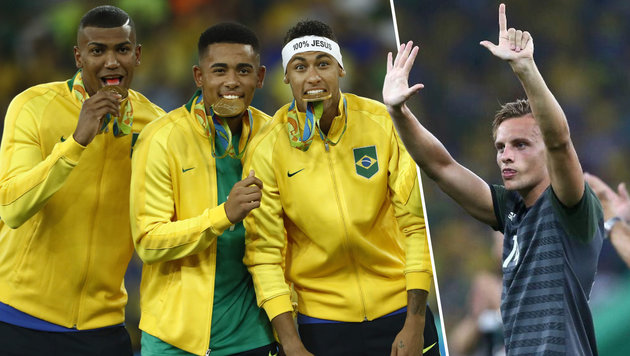 Eklat in Rio! Deutscher Kicker verhöhnt Brasilien (Bild: AFP/Odd Andersen, twitter.com)