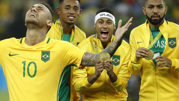Neymar schießt Brasilien zu Olympia-Gold! (Bild: AFP/Odd Andersen)