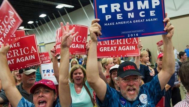 Trump wirbt um Stimmen der Afroamerikaner (Bild: AFP)