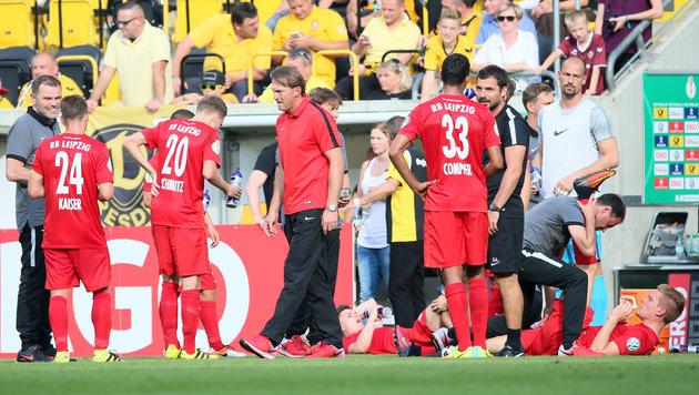 Leipzig: Bullenkopf kam in Holzkiste ins Stadion! (Bild: GEPA)