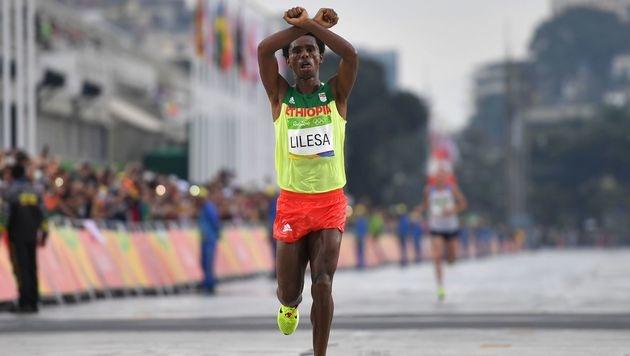 """Marathon-Zweiter: """"Vielleicht werde ich get�tet"""" (Bild: AFP)"""