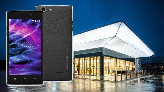 Hofer verkauft Android-Handy mit LTE für 90 Euro (Bild: Hofer, Medion)