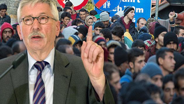 """Illegale Migranten mit Militäreinsatz abschieben"" (Bild: EPA/SOEREN STACHE, dpa/Sebastian Kahnert)"