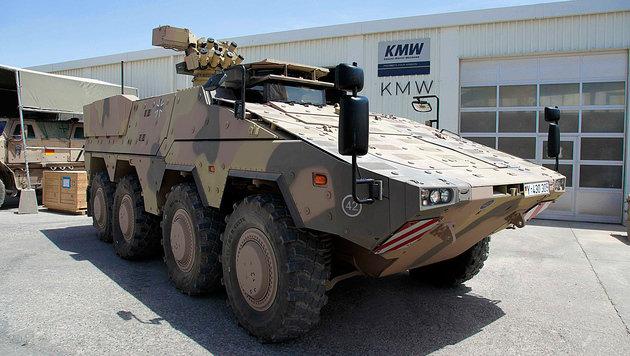 """Ein """"Boxer""""-Radpanzer der Bundeswehr in Afghanistan (Bild: ISAF Headquarters Public Affairs Office)"""