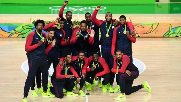 US-Basketballer nach Goldgewinn vor Umbruch (Bild: AFP)