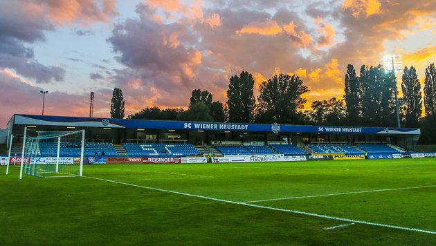Nicht mehr lange wird dieses Stadion die Heimstatt des SC Wiener Neustadt sein. (Bild: GEPA)