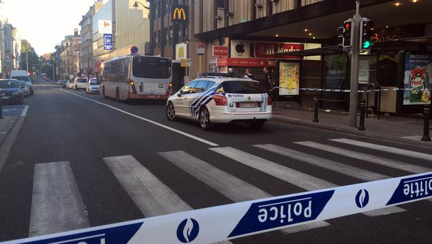 Der Tatort wurde von der Polizei abgesperrt. (Bild: ASSOCIATED PRESS)