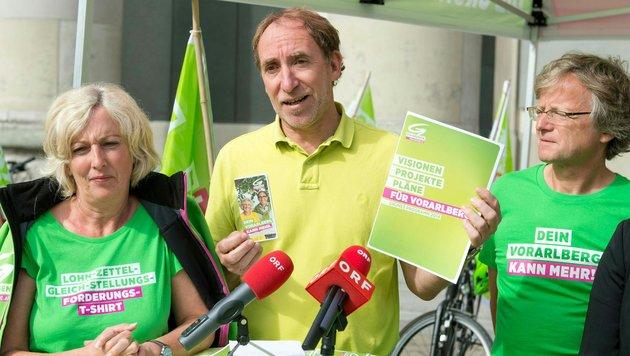 Adi Gross (im Bild rechts), Klubobmann der Vorarlberger Grünen (Bild: APA/DIETMAR STIPLOVSEK)