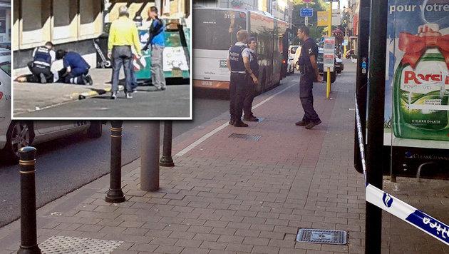 "Brüssel: Macheten-Angreiferin trug ""Schleier"" (Bild: ASSOCIATED PRESS, Twitter.com/MahoundParadise)"