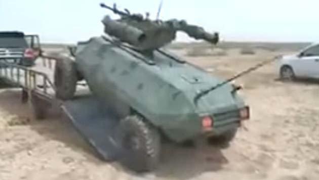 Irak: Zwei Br�der bauen Kampfroboter gegen den IS (Bild: YouTube.com)