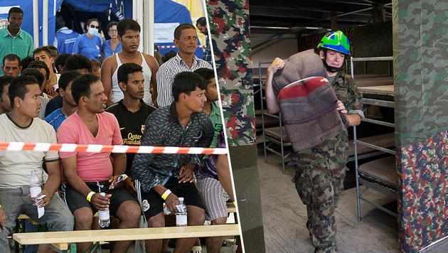 Italien muss Flüchtlinge in Kasernen unterbringen (Bild: AFP, APA/KEYSTONE/TI-PRESS/DAVIDE AGOSTA)