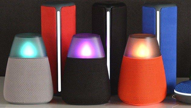 LGs neue Lautsprecher sehen aus wie Teelichter (Bild: LG Electronics)