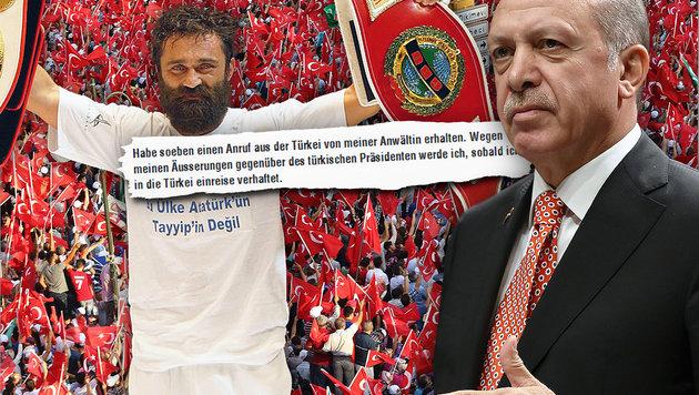 "T�rkischer Box-Champ: ""Erdogan ist Hitler 2.0"" (Bild: APA/AFP/ADEM ALTAN, facebook.com, AP)"