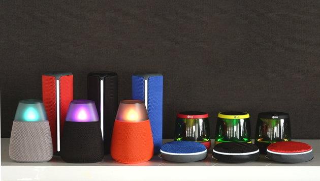 LGs neue Lautsprecher sehen aus wie Teelichter (Bild: LG Electronics Austria)