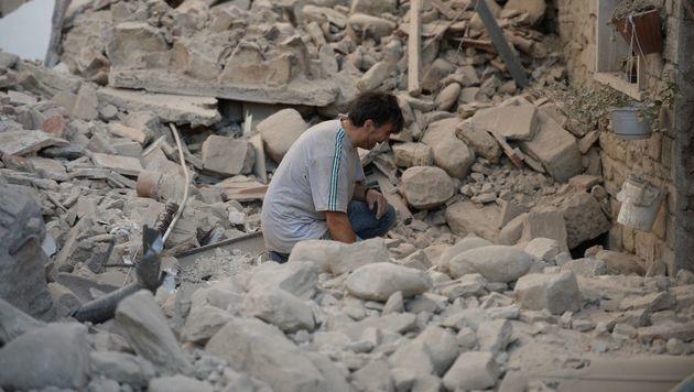 "Opfer: ""Zehn Sekunden haben hier alles zerstört"" (Bild: AFP/FILIPPO MONTEFORTE)"