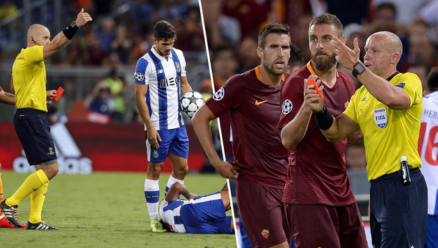 Doppel-Rot! Roma-Stars drehen bei Aus völlig durch (Bild: EPA, AFP)