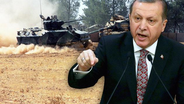 """Erdogan: """"Haben IS-Bastion zur�ckerobert"""" (Bild: AFP/ADEM ALTAN, AP)"""