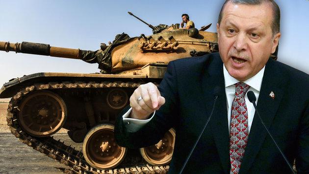 "Erdogan an Irak-Premier: ""Nicht auf meinem Niveau"" (Bild: AFP/BULENT KILIC, AFP/ADEM ALTAN)"