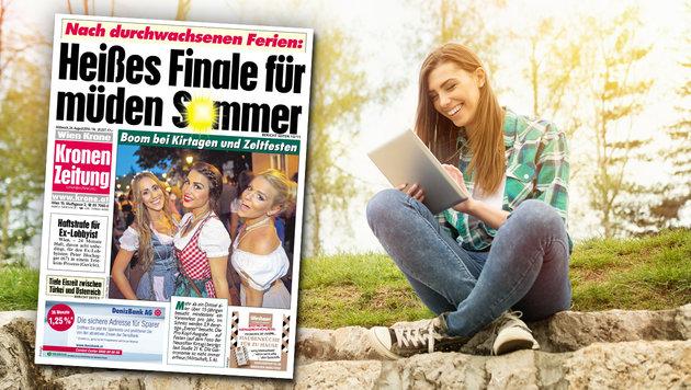 """Erfolg: """"Krone"""" auch als ePaper top! (Bild: Kronen Zeitung, thinkstockphotos.de)"""