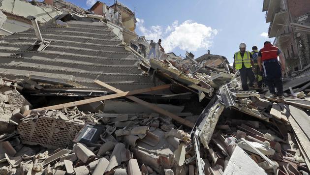"""Opfer: """"Zehn Sekunden haben hier alles zerstört"""" (Bild: AP)"""
