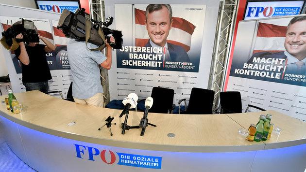 """Macht braucht Kontrolle"": Hofer startet Wahlkampf (Bild: APA/HANS KLAUS TECHT)"