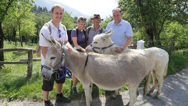 Stadtchef Martin Treffner hat die Eselwanderung auf die Pollenitz initiiert. (Bild: Evelyn Hronek)