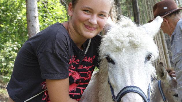 Kinder haben mit den gutmütigen Eseln eine ganz besondere Freude. (Bild: Evelyn Hronek)