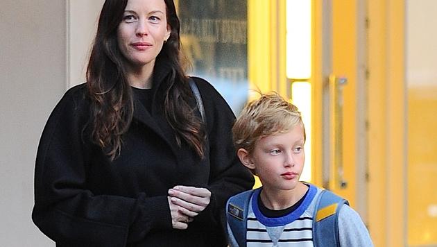 Liv Tyler mit Sohn Milo (Bild: Viennareport)