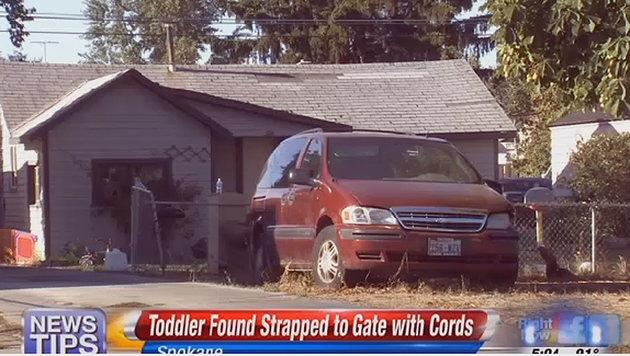 Das Haus, vor dem das Baby gefunden wurde. (Bild: Screenshot/KHQ.com)