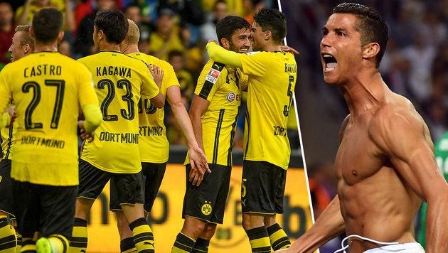 """CL: Dortmund bekommt""""s mit Ronaldo zu tun (Bild: GEPA, APA/AFP/GERARD JULIEN)"""