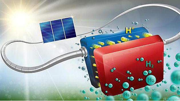 Schweizer verwandeln Solarenergie in Wasserstoff (Bild: Infini Lab/2016 EPFL)