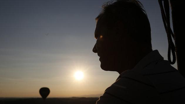 """""""Graf Norbert"""" ging mit Ballon in die Lüfte (Bild: APA/ERWIN SCHERIAU)"""