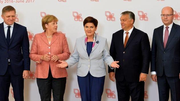 Die Kluft zwischen den Visegrad-Staaten und Deutschland in der Flüchtlingspolitik bleibt tief. (Bild: AFP)