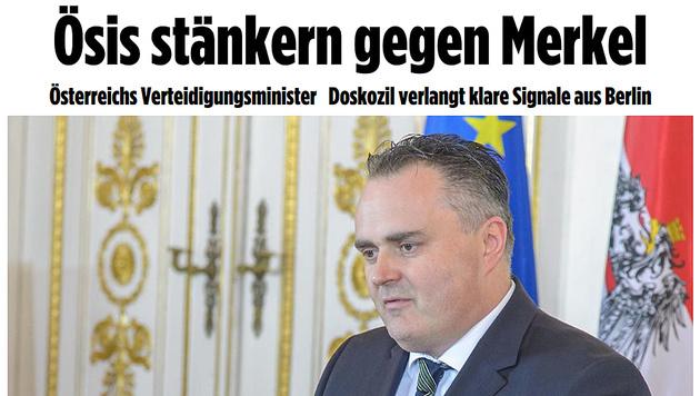 """Bild"" ortet nach Kritik an Merkel ""�si-St�nkerei"" (Bild: Screenshot/bild.de)"