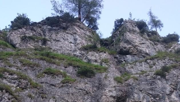 Über diese steile Bergwand stürzte die Alpinistin in den Tod. (Bild: Bergrettung Grünau)