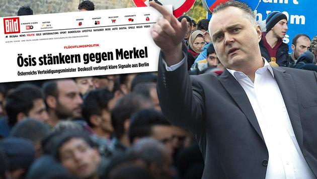 """""""Bild"""" ortet nach Kritik an Merkel """"�si-St�nkerei"""" (Bild: APA/dpa/Sebastian Kahnert, APA/Erwin Scheriau, Bild.de)"""