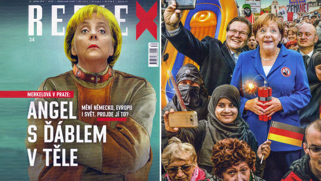 IS, Flüchtlinge: Harte Bandagen für Merkel in Prag (Bild: Reflex, Prag / JAN KRUPKA)