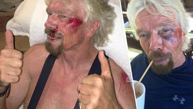 Milliardär Branson überlebt Horrorsturz mit Rad (Bild: Virgin.com)