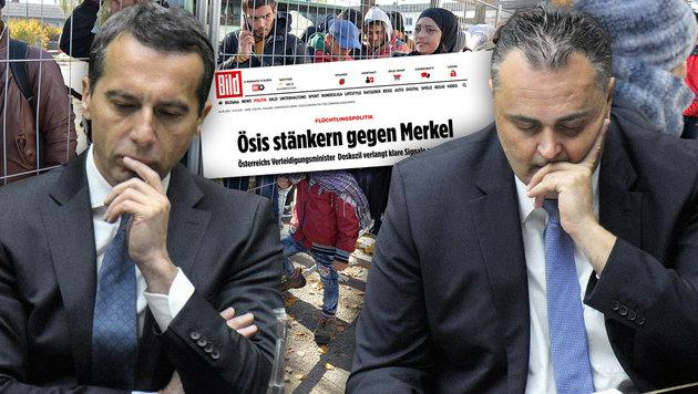 Spannungen in der SPÖ um die Flüchtlingspolitik (Bild: Bild.de, APA/BARBARA GINDL, APA/HERBERT PFARRHOFER)