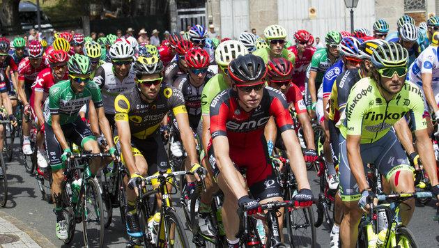 Van Genechten Etappensieger - Contador gestürzt (Bild: AFP)