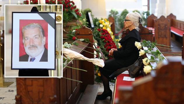 Am Freitag nahm Christiane Hörbiger von ihrem Lebensgefährten Gerhard Tötschinger Abschied. (Bild: Gerhard Bartel)