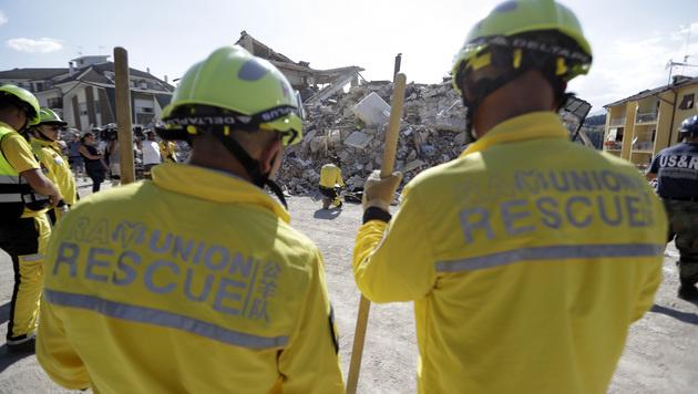 """Kater """"Pietro"""" nach 16 Tagen lebend geborgen (Bild: Associated Press)"""