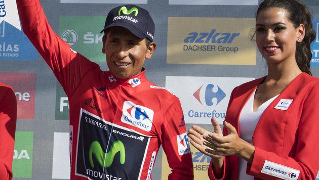 Kolumbianer Quintana neuer Vuelta-Spitzenreiter (Bild: AFP)
