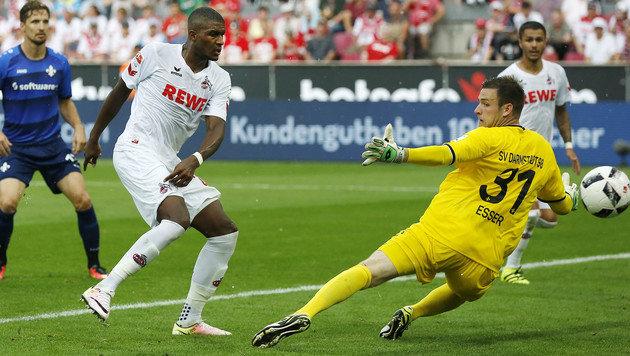 Anthony Modeste schießt zum 2:0 für Köln ein! (Bild: AFP)
