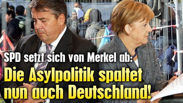 Die Asylpolitik spaltet nun auch Deutschland (Bild: APA/BARBARA GINDL, AP)