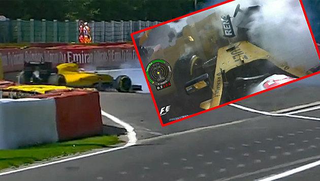 Heftiger Crash! Belgien-Grand-Prix unterbrochen (Bild: SKY)