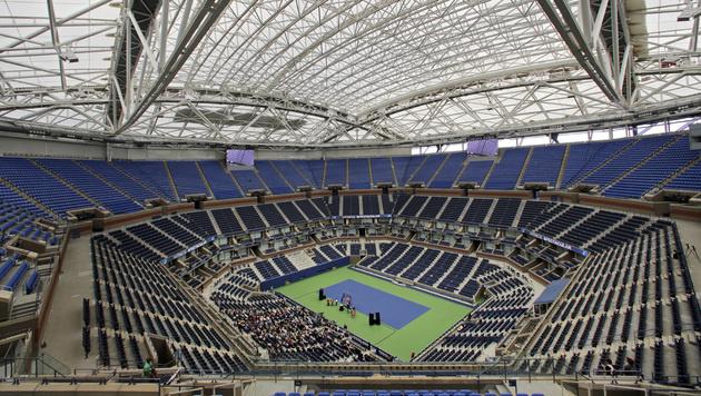 US Open: Spektakul�res Dach, neues Stadion (Bild: AP)