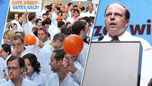 "Ärztekammer-Boss Thomas Szekeres: ""Wir Mediziner wollen nicht tatenlos zuschauen."" (Bild: dpa, APA/HELMUT FOHRINGER)"