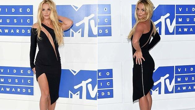 Britney Spears kam im Kleinen Schwarzen. (Bild: Evan Agostini/Invision/AP, APA/AFP/GETTY IMAGES/Jamie McCarthy)